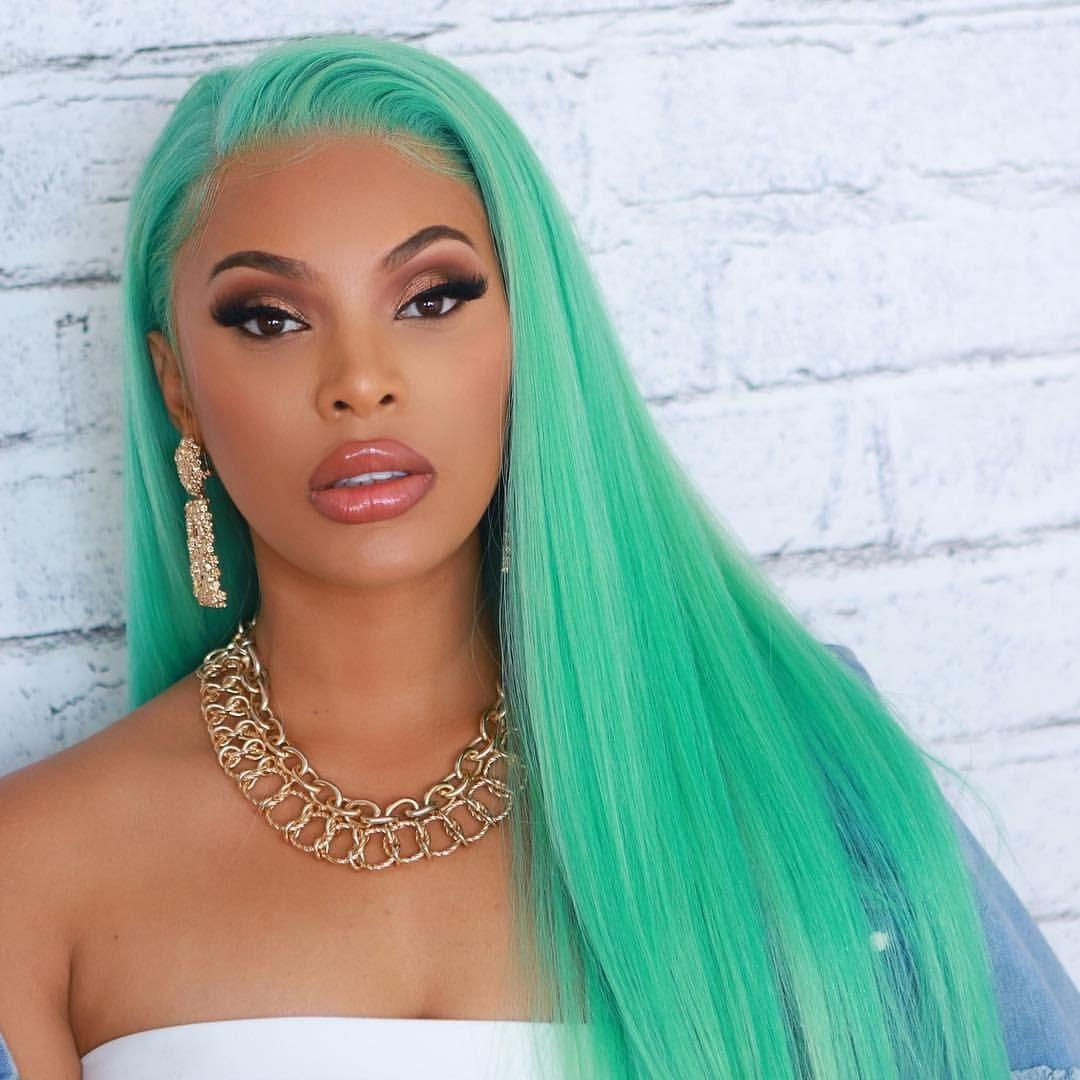 4efc7d88c LIN MAN Hair Green Full Lace Human Hair Wigs Straight Brazilian Remy Hair  Lace Front Wigs With Pre Plucked Lace Wig Glue African Hair Wigs From ...