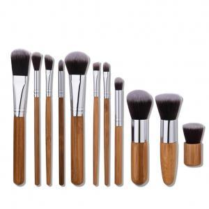 93159e582095c Bamboo Handle Makeup Brushes Set Eyeshadow Eyebrow Concealer Blush ...