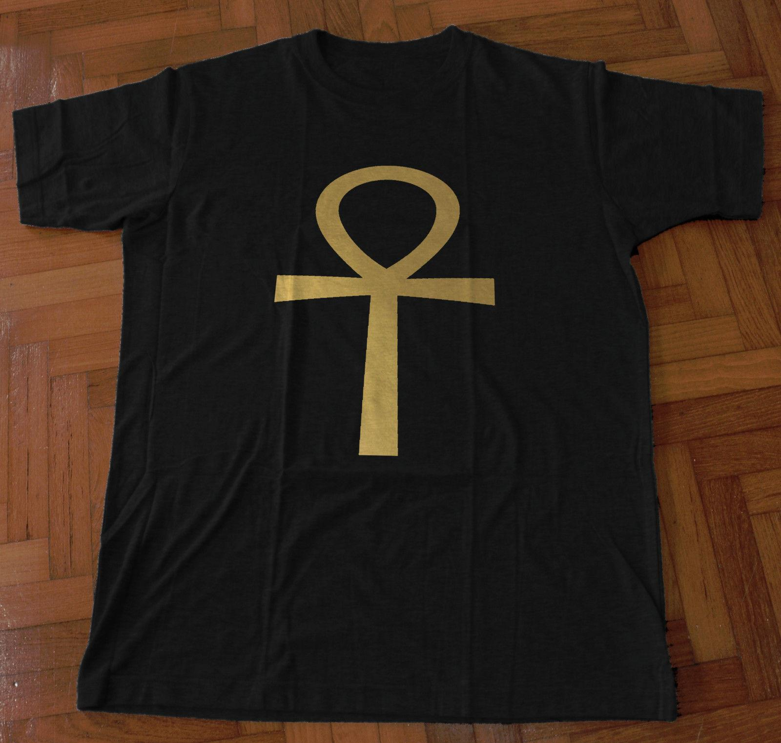 f4cb1be3288 ANKH GOLD FOIL DESIGN RINGSPUN COTTON T SHIRT EGYPTIAN LIFE CROSS  HIEROGLYPH Funny Unisex Casual T Shirt Online Buy Cool Tees Online From  Rocktothetop, ...
