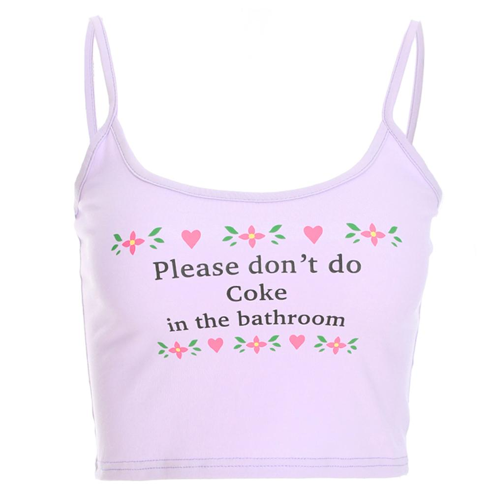 2fa70e1427bd3 2019 Crop Tank Tops Women 2019 Short Women Tops Sexy Straps Backless Print  Letter Female Casual Sexy Camisole Streetwear Cropped Feminino From Luote