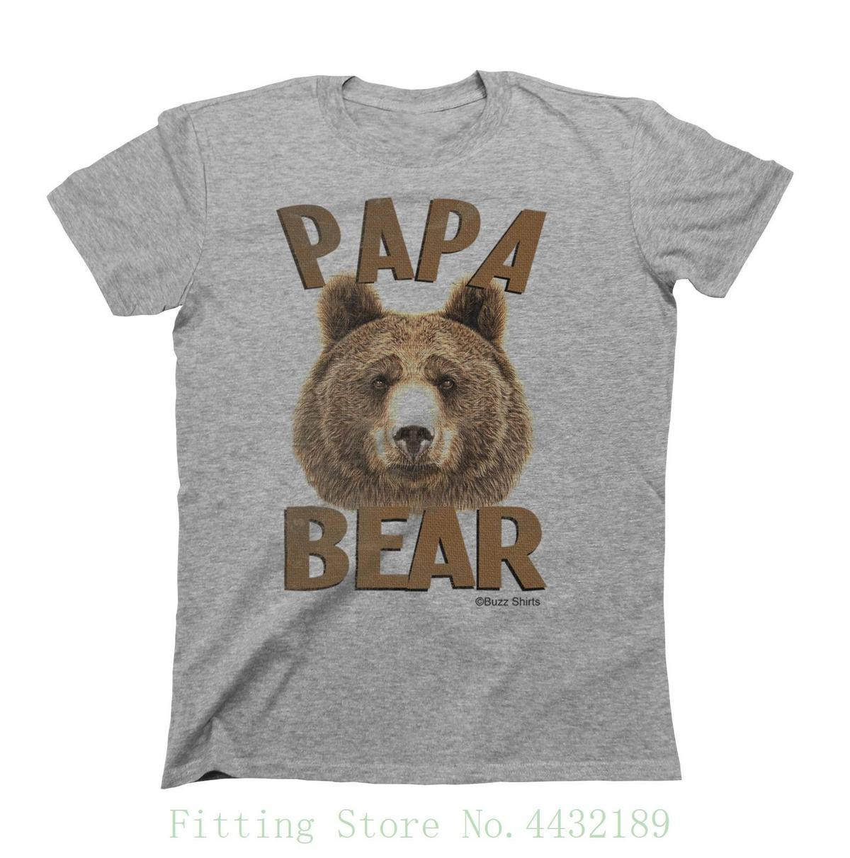 03870be7bda7 Papa Bear Fathers T Shirt Gift For Dad Birthday Fathers Day Christmas Daddy  Casual Short Sleeve Shirt Tee Be Awesome T Shirt Print On Tee Shirt From  Jie3, ...