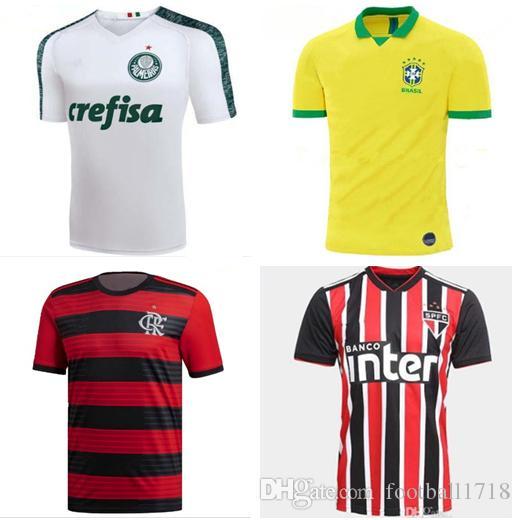 Nuevo 19 20 Brasil Flamenco Camiseta 2019 2020 Flamenco Palmeiras Camisetas  De Fútbol Sao Paulo Camiseta De Fútbol Uniforme Por Football1718 2c78d8659585b