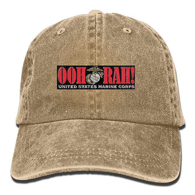 0776580c664fd 2019 New Custom Baseball Caps Print Hat OOH RAH US Marine Corps Mens Cotton  Adjustable Washed Twill Baseball Cap Hat Hat Stores Custom Trucker Hats  From ...