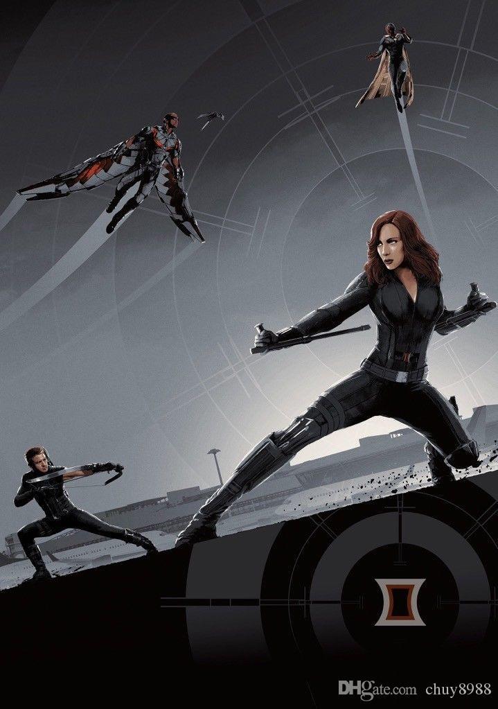 CAPTAIN AMERICA: CIVIL WAR Movie Film Black Widow IMAX Art Silk Print  Poster 24x36inch(60x90cm)