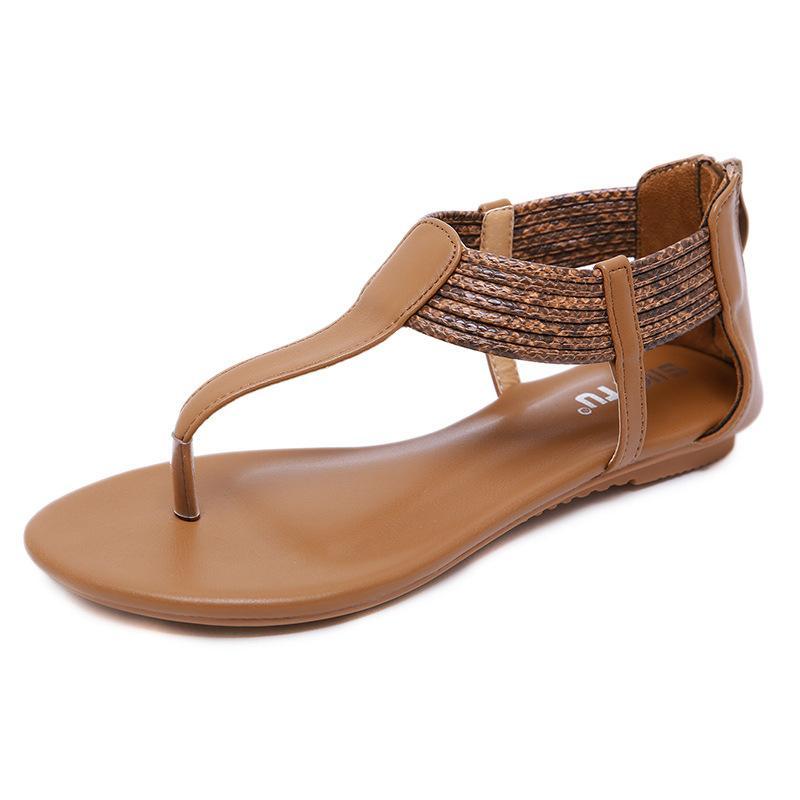 cf340a038 Compre Nuevo 2019 Sandalias De Verano De Estilo Romano Bohemio Para Mujer  Cuñas De Gran Tamaño