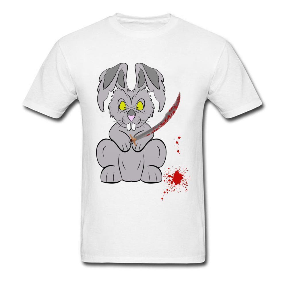cd5c0d54d219 White T Shirts Fashion Bad Bunny Bad Rabbit Anime Tshirt 100% Cotton Fabric  Crewneck Short Sleeve Soft Tops T Shirt Killed Art T Shirts The Who T Shirt  From ...