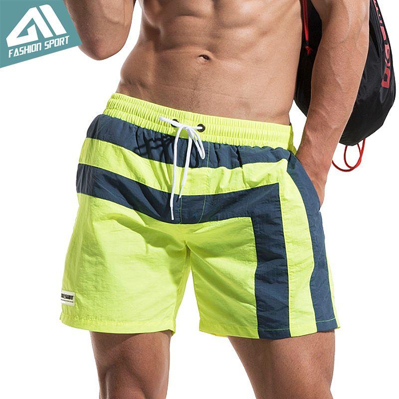 2f441dc23fd7bb 2019 Desmiit Fast Dry Men'S Board Shorts Summer Striped Beach ...