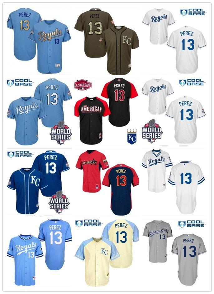 best loved b9d36 2a30e 2018 Kansas City Royals Jerseys #13 Salvador Perez Jerseys  men#WOMEN#YOUTH#Men s Baseball Jersey Majestic Stitched Professional  sportswear