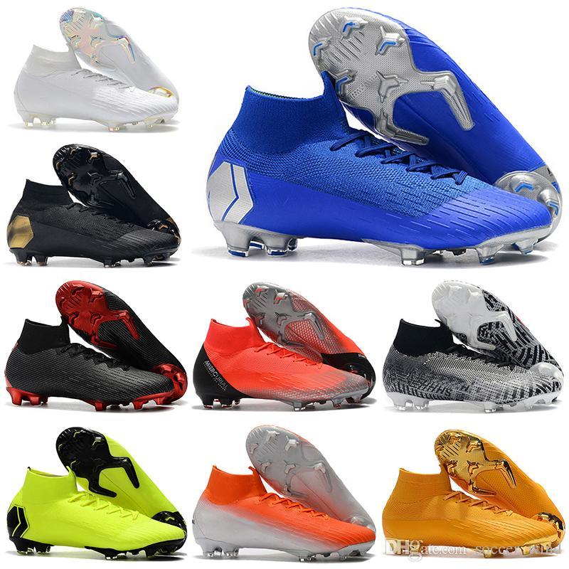 Compre 2019 Nuevos Hombres De La Llegada Botines De Fútbol De Tobillo CR7  Mercurial Superfly VI 360 Elite Neymar FG Zapatos De Fútbol Superfly 6  Botines De ... 19f8bef794586