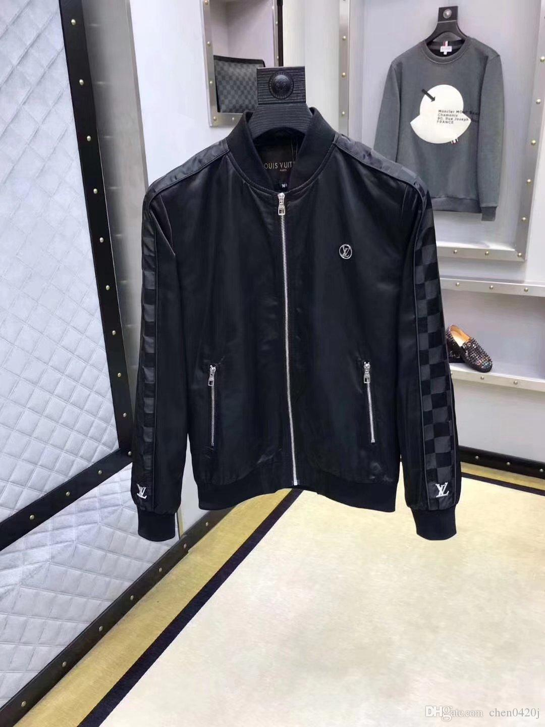 Free Shipping New 2019 Spring And Autumn Period And The Double Jacket For Fashion Leisure Coat Jackets Menswear21