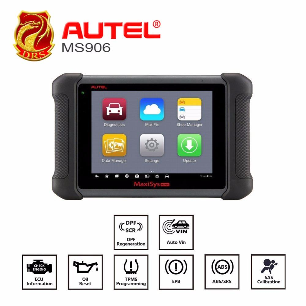 AUTEL MaxiSYS MS906 Car Diagnostics Tool Bluetooth WIFI OBD2 Scanner Key programmer Android Automotive Tools Autoscanner OBDII