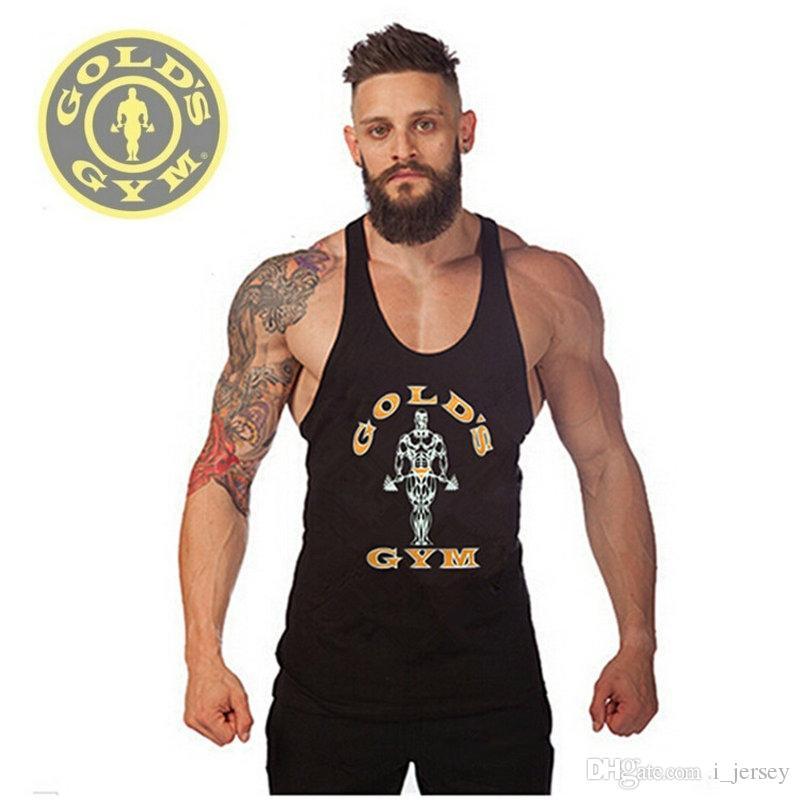 finest selection d1e04 1424a Fitness! Neue 2019 mode baumwolle ärmellose shirts trägershirt fitness  männer shirt herren singlet bodybuilding plus size weste turnhallen # 316810