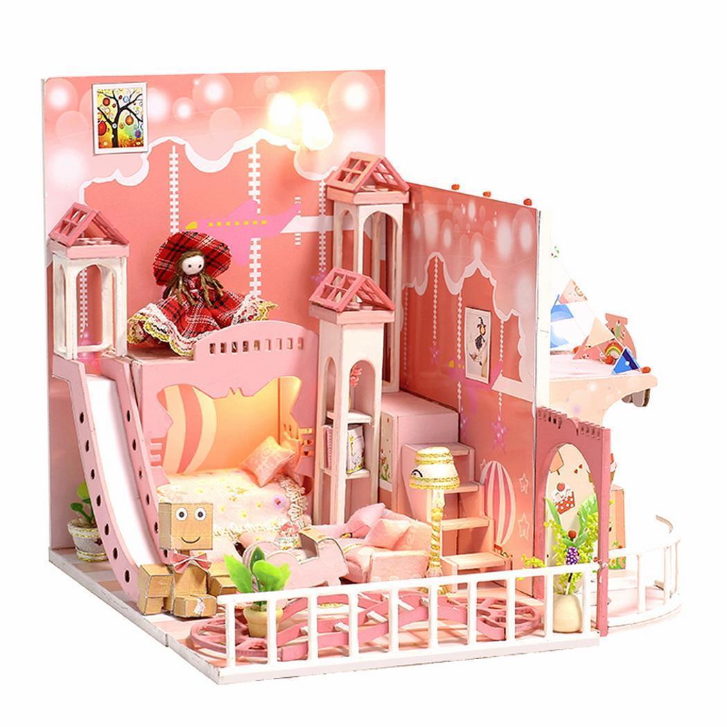4fa3687b245221 Großhandel Kinder Kreatives Holzspielzeug Puppenhäuser Handgefertigtes  Häuschen