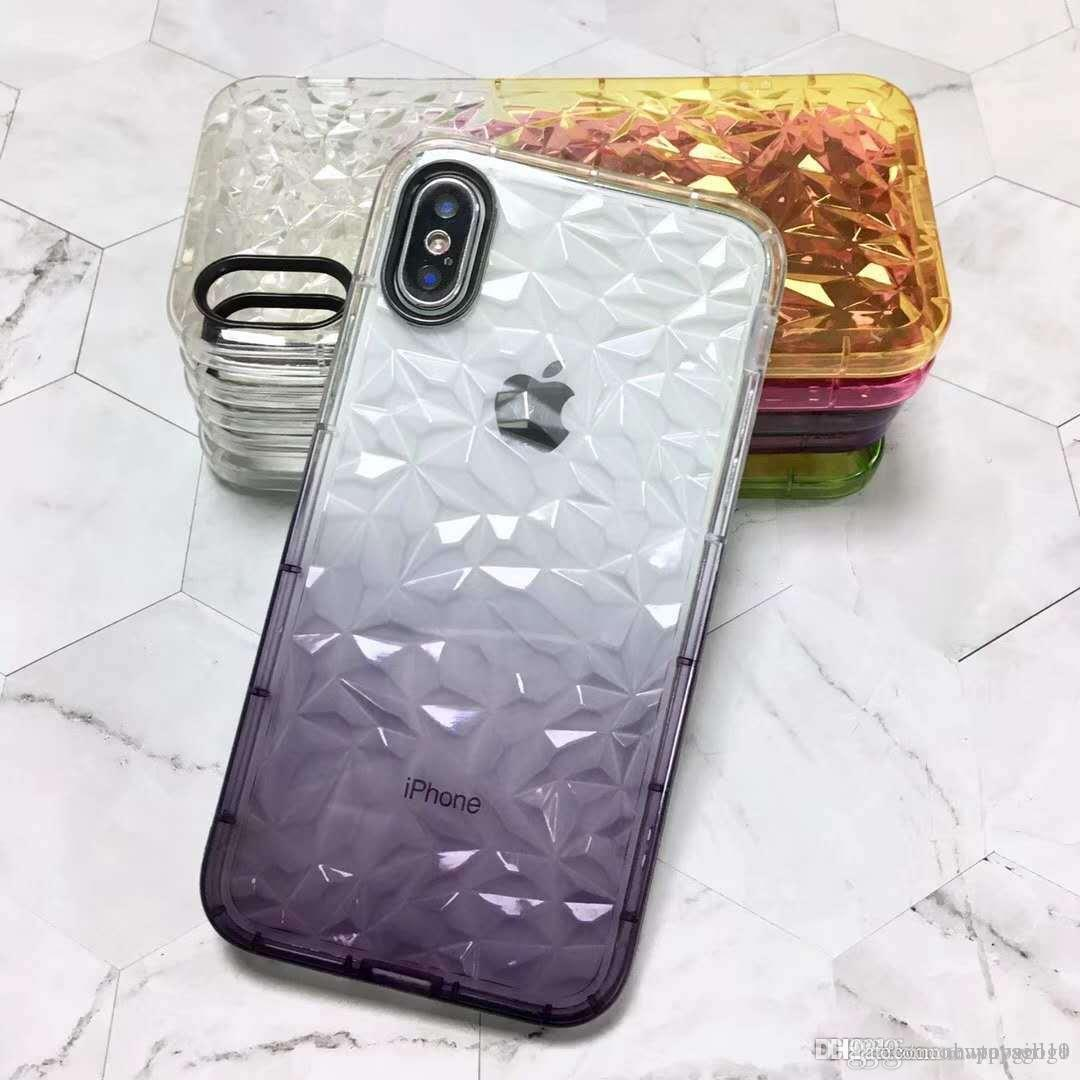 Prix ​​usine 100% Brand New Crystal Design Housse En Silicone Peau Pour Apple iPhone 7/7 Plus JELLY COLORS 1pcs E277