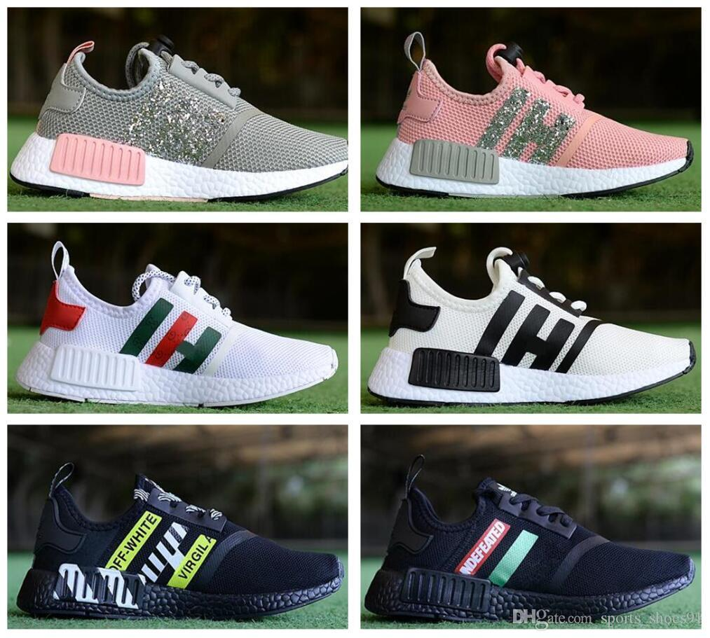 d69c37a51346c Luxury Designer Children S Boys Girls NMD R1 Baby Kids Toddler Shoes White  Pink Crystal Sequins Trainers City Sock Sneakers Running Shoes Athletic  Shoes ...