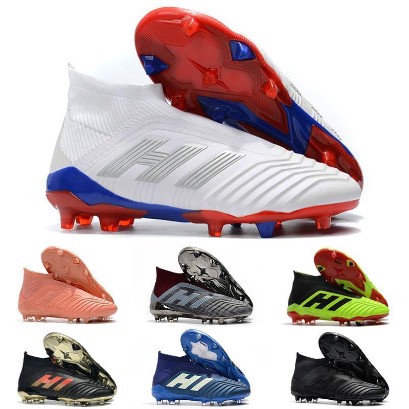 2019 Fashion Hot Predator 18 Predator 18.1 FG PP Paul Pogba soccer 18 x cleats Slip On botas de fútbol zapatos de fútbol para hombre