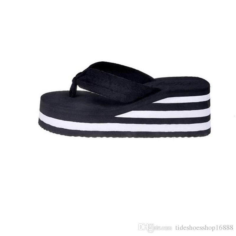 c9532c18bee70e Ladies Wedges Slippers High Platform Flip Flops 2019 Women Summer Slippers  High Heels Slipper Beach Wedges Sandals Ladies Thick Pantufas Cowboy Boots  For ...