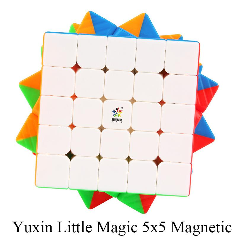 Yuxin Little Magic 5x5x5 Magnetic Cube Stickerless Cube Puzzle Toys for Beginner and Children Kids Cubo Magico Gift