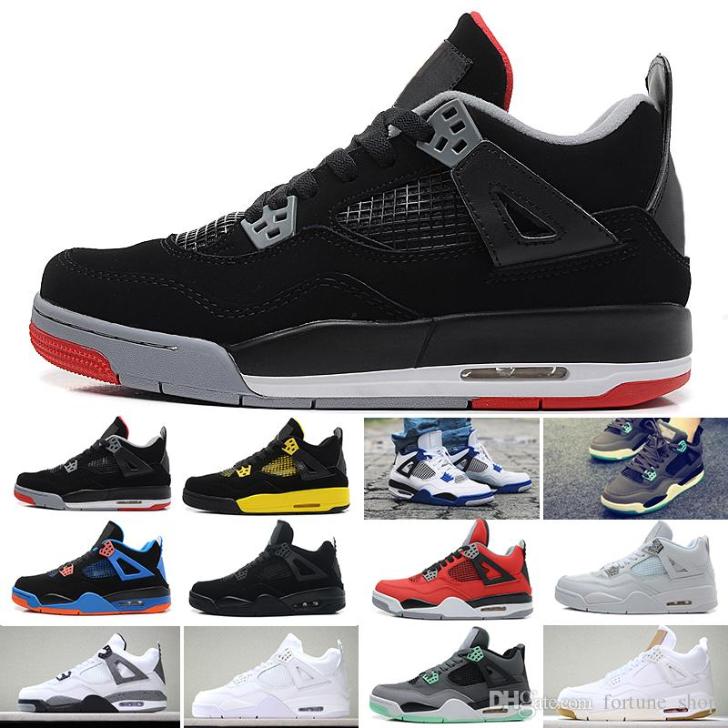 quite nice 55a35 4decc Nike Air Jordan 1 4 6 11 12 13 Attoo 4 Singles Día 4s Calzado De Baloncesto  Hombre Pure Money Royalty Cemento Blanco Raptors Gato Negro Bred Fire Red  Para ...