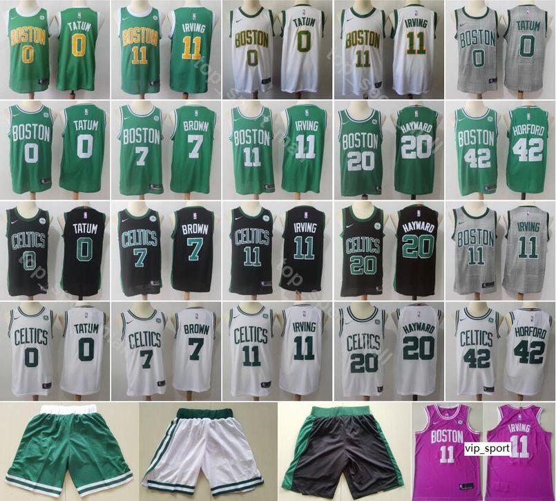 outlet store sale 1358a 2c66b 2019 City Earned Edition Kyrie Irving Jersey Boston Basketball Jaylen Brown  Jayson Tatum Gordon Hayward Al Horford White Black Shirts
