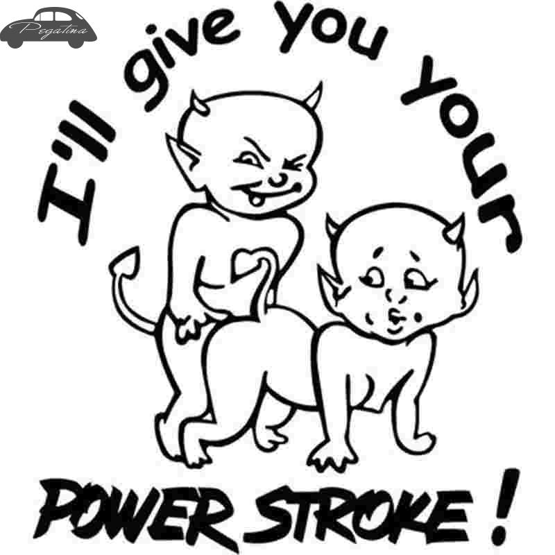 2019 Pegatina Give You Power Storke Vinyl Decal Funny Car Truck