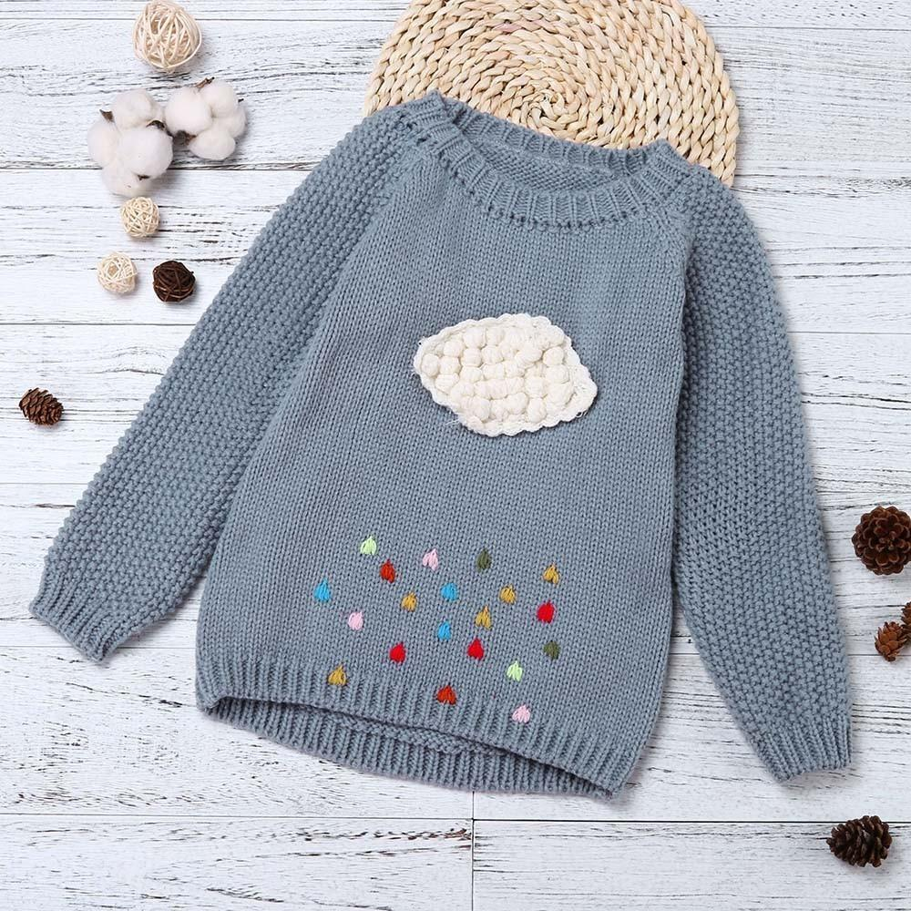 97209afef 2018 Warm Outerwear Baby Cute Knitted Cardigans Toddler Girl ...