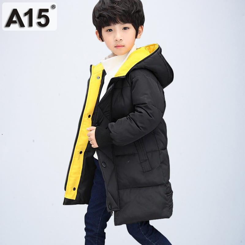 8df3c9c7e A15 2019 Boys Winter Coats Hooded Toddler Clothes Parks Size 4 6 8  Children'S Jackets For Boy Big Kids Outerwear Teen 10 12 Year Girl Coat  Sale Winter Coats ...
