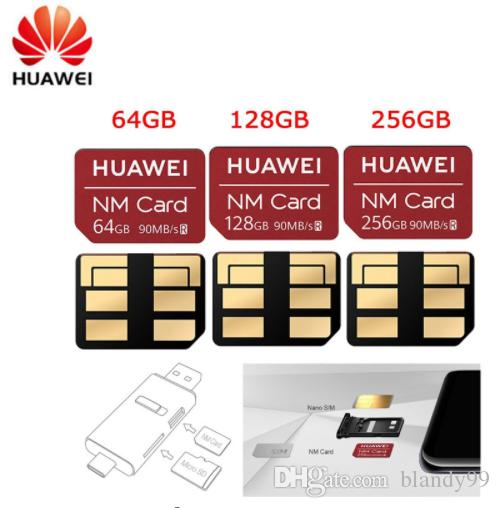 Per Huawei NM Card 100% Originale 64 GB / 128 GB / 256 GB per Mate20 Pro X P30 USB3.1 Gen 1 Nano Memory Card Reader