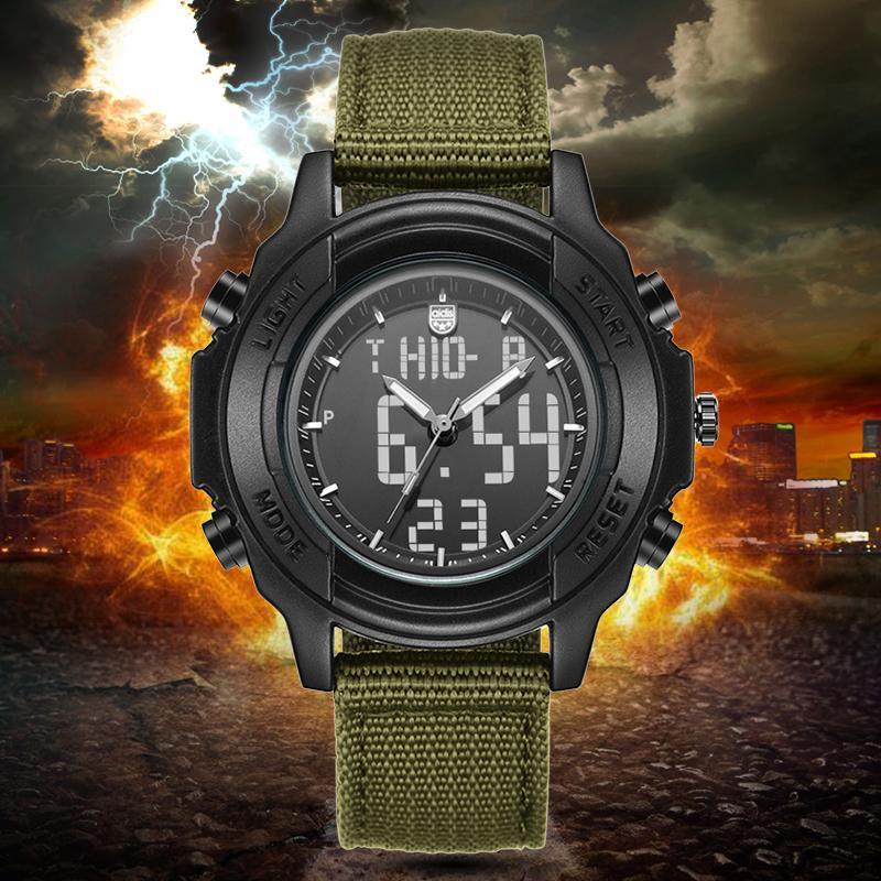 3ec1057b5 Men Watches Watch Canvas Fabric Strap Army Digital Watch For Men Male  Quartz Wristwatch Reloj Homme Watches On Sale Watches Sale From Glioner, ...