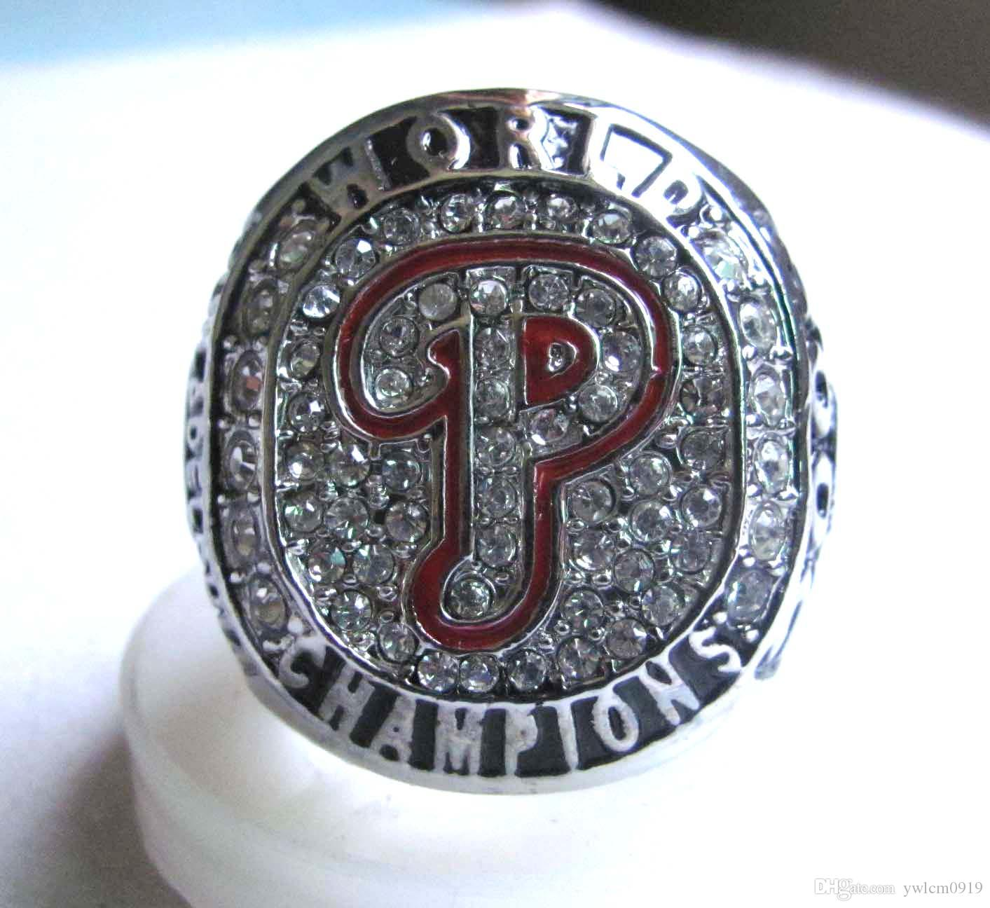 Difettoso Baseball Philadelphia Phillies 2008 World Series anelli di campionato regalo Fan uomini squilla Shipping
