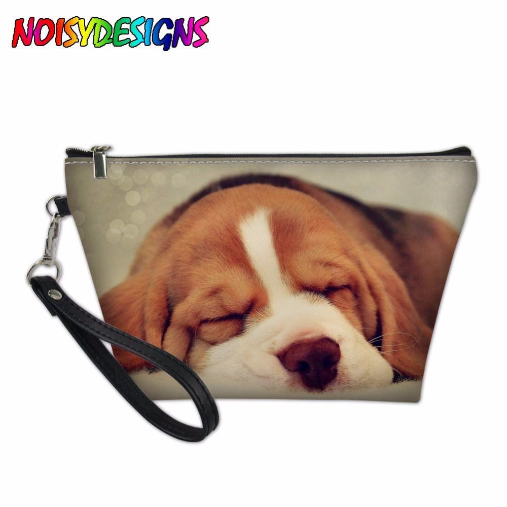 1501c569b0fd Beagle Dog Printing Cosmetic Bags Travel Makeup Case Toiletry Bags  Organizer Beautician Necessary Clutch Bag Bolsa Feminina
