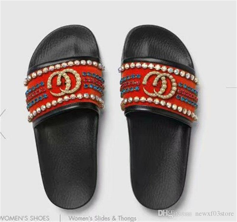 935e9a443a4 Marmont Pursuit Crystal Slide Sandal GG Log0 Black Mule Thong Flat ...