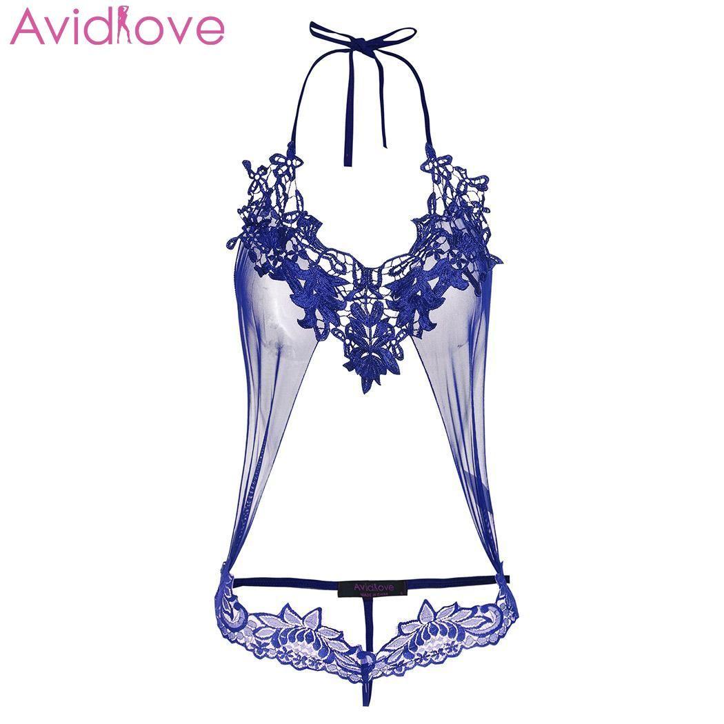 Avidlove Femmes Sexy Lingerie Ensemble Sex Shop Transparent Bikini Exotique Body Dentelle Ensemble De Lingerie Bodydoll