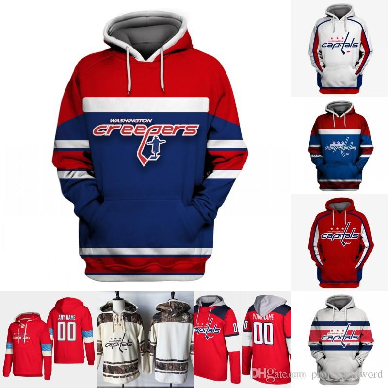 5e5dca757c3 Washington Capitals Hoodie Jersey Mens 8 Alex Ovechkin 19 Nicklas ...
