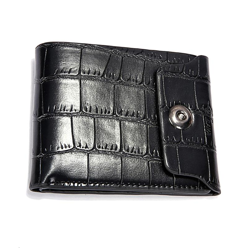 d68fc8ddcf93 New Alligator Pattern Man PU Leather Bifold Wallet Solid Color Hasp  Multifunction Purse ID Card Holder Coin Purse Pocket