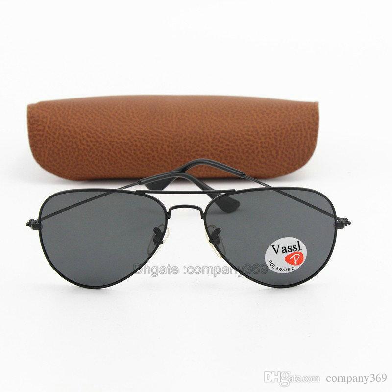 ba363c99c9 Top Quality Vassl Brand Black Metal Frame Pilot Sunglasses Men Brand  Designer Resin Polarized Lens Sun Glasses For Women Sunglasses At Night  Sunglasses ...