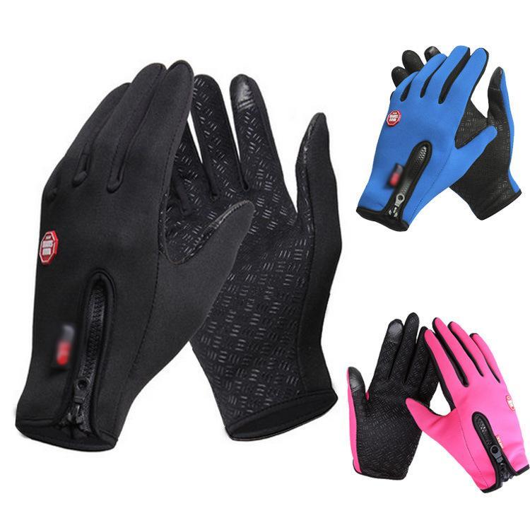 2019 Winter Explosions Riding Gloves Men And Women Fleece Windproof Warm  Touch Screen Gloves Outdoor Mountaineering Ski Bike Zipper From Wzflove d9dc8fc96866
