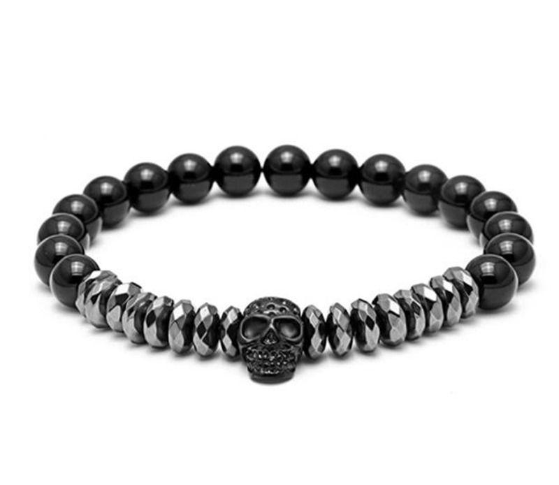 065ca5c9ea0b2 Black gall stone Buddha bead bracelet skull jewelry natural stone bracelet  jewelry for men and women