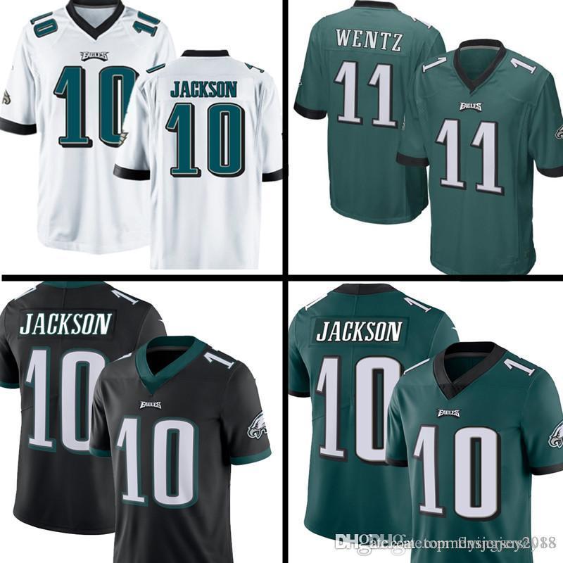 wholesale dealer d3251 78da4 10 DeSean Jackson Philadelphia Eagles Jersey Mens 11 Carson Wentz 9 Nick  Foles 20 Brian Dawkins 17 Alshon Jeffery stitched Football Jerseys