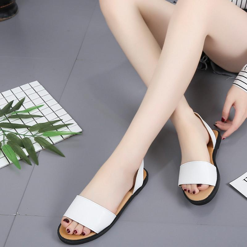 295aae9d8 COOTELILI Fashion Women Flat Sandals Summer Shoes Women Flats Female ...