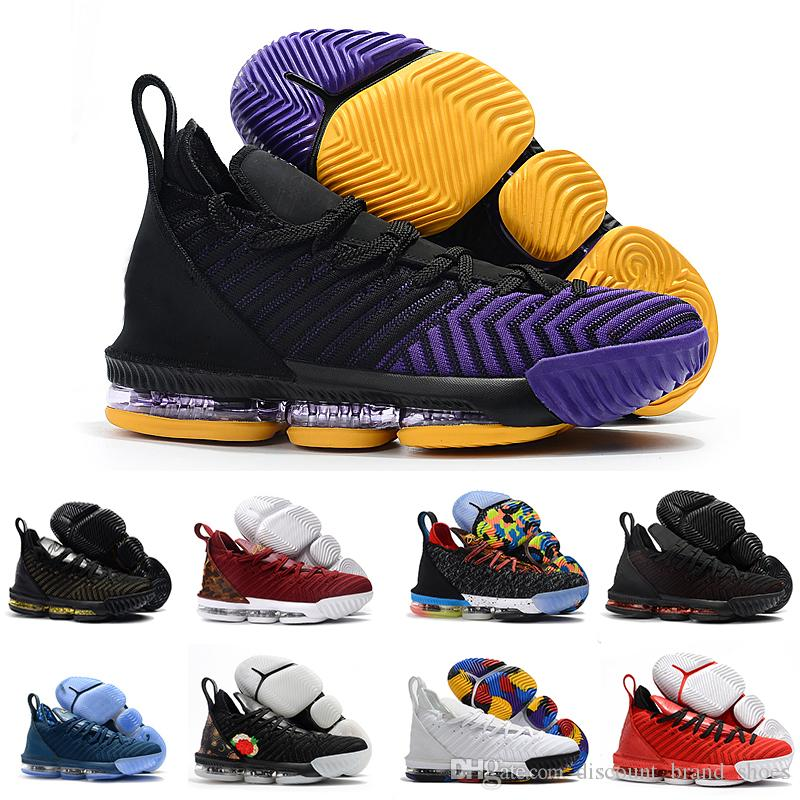 new style 3f98a 81299 2019 Rainbow CNY Lebron James 16 Black 1 THRU 5 Men Shoes I Promise 16s  Black Gold Mens Trainers Sports Designer Sneakers 40 46 Online Clothes  Shopping .