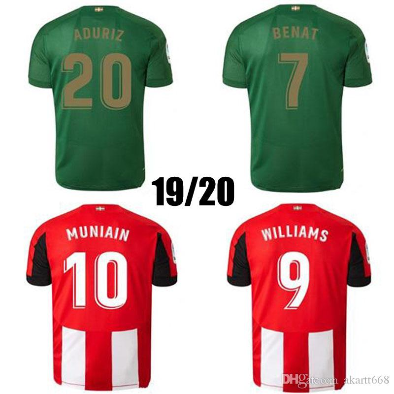 2020 19 20 Athletic Bilbao Club Home Soccer Jerseys 2019 ...