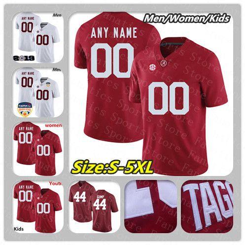 best website cd08d 4679b Custom Ncaa 2019 Men Women Youth Alabama Crimson Tide College Football  Jersey Forrest Gump Henry Quinnen Williams Tagovailoa Size S-4XL 5XL