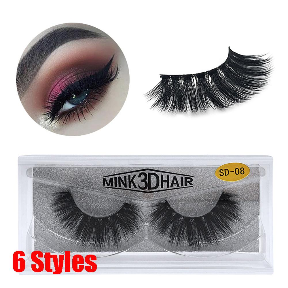c08e310a0d9 3D Mink Eyelashes Thick Cross Long Lashes Luxury Handmade Mink Lashes  Medium Volume Wispy Upper False Eyelashes Eyelash Dye Eyelash Extension  Training From ...