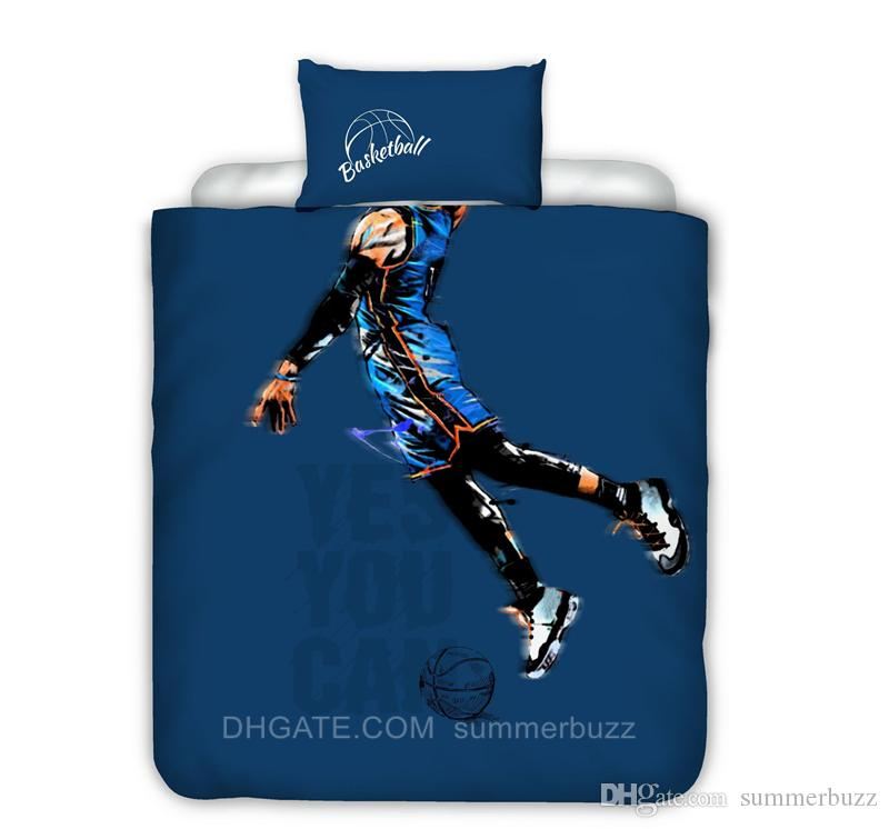 Creative 3d Print Basketball Bedding Set Stain Bed Set Fashion Duvet