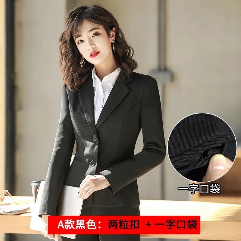 9c674a175bf08 Satın Al Küçük Takım Elbise Kadın Ceket Takım Elbise Ceket Röportaj Elbise  Uzun Kollu Takım Siyah Takım Elbise Ceket Kadın Ince Tulum, $95.48 | DHgate.