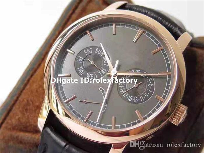 AI Factory 18K Rose Gold Traditionnelle Day-Date 85290/000R-B405 Mens Watch Black Dial 2475SC Automatic Movement 28800vph Power Reserve