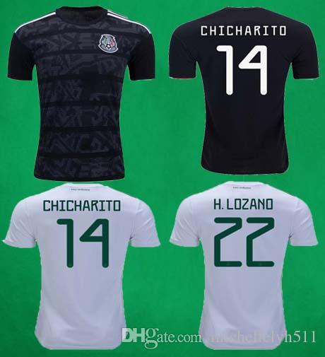 dcc7ae792 2019 2019 Mexico Gold Cup Jersey 18 19 Mexico Black Soccer Jersey Home Away  Football Shirt CHICHARITO HERNANDEZ G.DOS M.LAYUN CARLOS Football Top From  ...