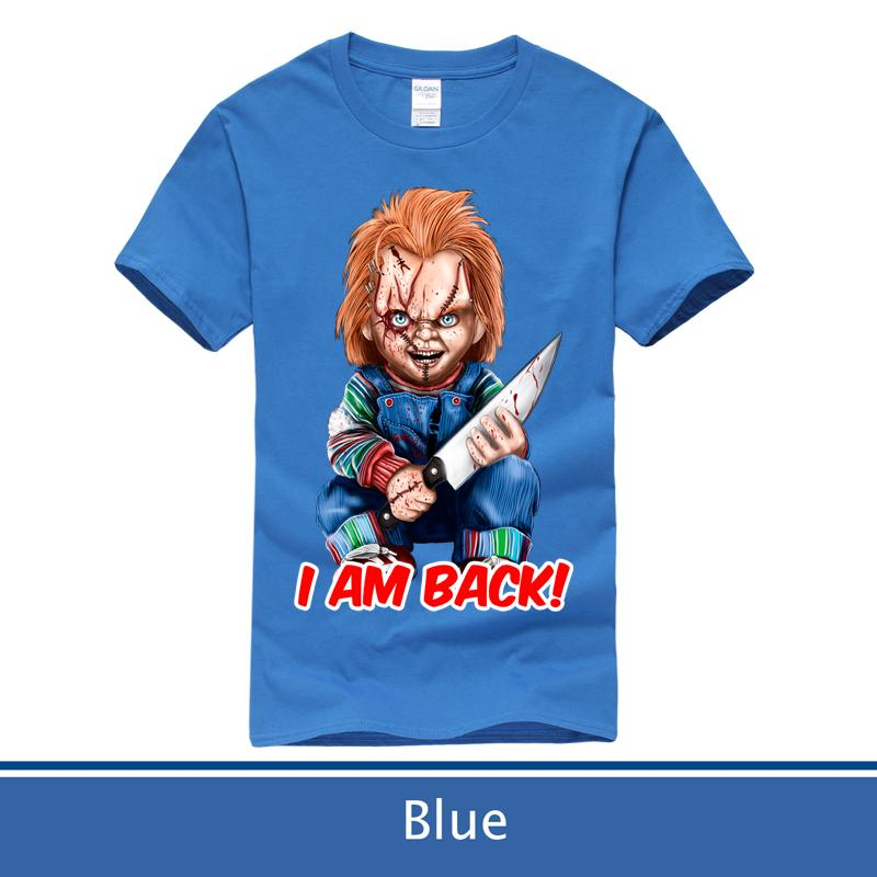 53ca11e629ed7 Chucky T shirt Men s & Women s Horror Movie Childs Play Chucky  T-shirt,Size:XS-XXL