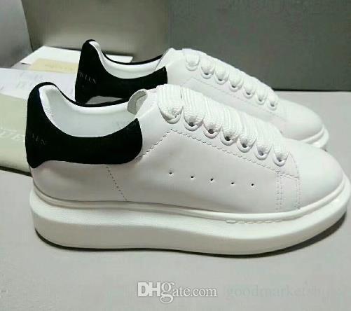 buy online b8503 f4115 Compre With Box Sneakers Zapatos Casuales Negros Lace Up Designer Comfort  Zapatos Deportivos Pretty Girl Mujer Zapatos Casuales De Cuero Hombres  Zapatillas ...